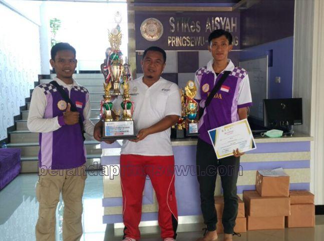 STIKes Aisyah Pringsewu Raih Juara Umum HKN ke 53 Tingkat Kabupaten Pringsewu tahun 2017
