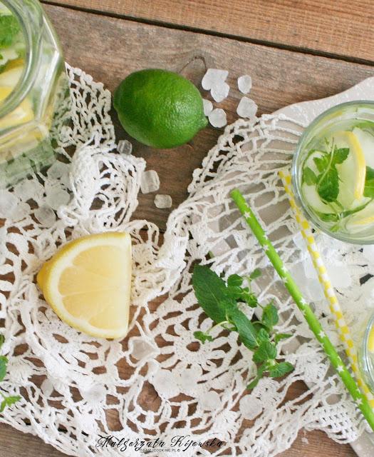 napoje orzeźwiające, na lato, z cytryną, ze swieżego ogórka, ogórkowe, napój ogórkowy, daylicooking, Małgorzata Kijowska