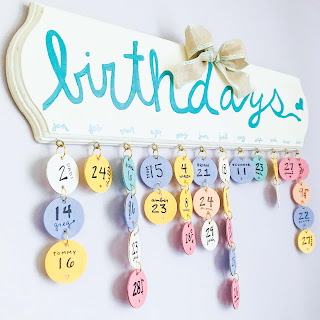 How to make a birthday calendar, Birthday board