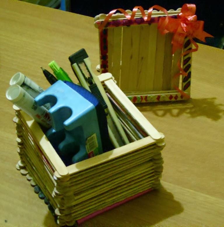 Cara Membuat Kerajinan Tangan Tempat Tisu Dari Stik Es Krim Cara
