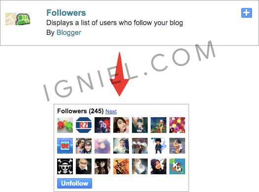 Cara Pasang Widget Follow (Ikuti) di Blogspot