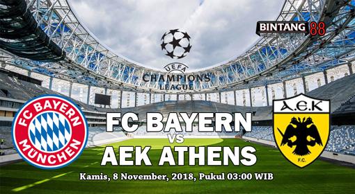 PREDIKSI BAYERN MUNCHEN VS AEK ATHENS FC 8 NOVEMBER 2018