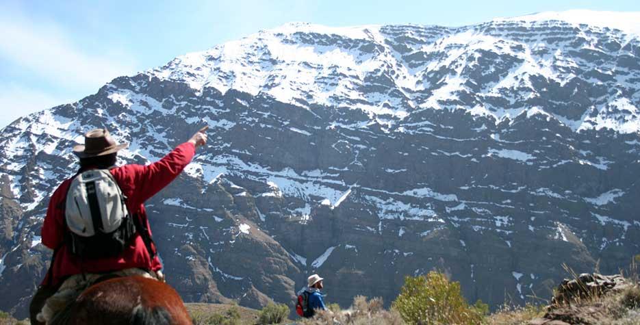 Cajon del Maipo landscape, near Santiago de Chile.