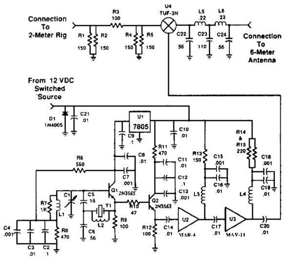 easy 2m 6m transverter circuit diagram