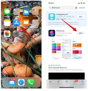 Cara membuat Shortcut Driving Directions  di aplikiasi Shortcut baru  iOS 12