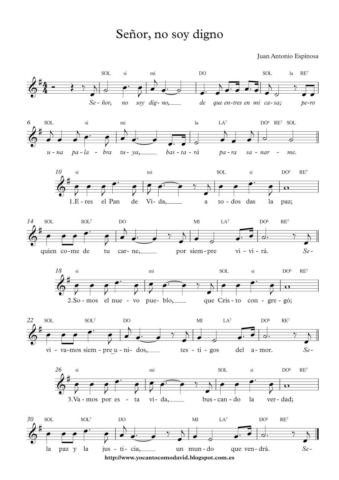 15 Minutos Con Jesus Sacramentado Juan Nolan Mp3 Descargar : minutos, jesus, sacramentado, nolan, descargar, Cancionero, Católico:, SEÑOR,, DIGNO., Autor:, Antonio, Espinosa