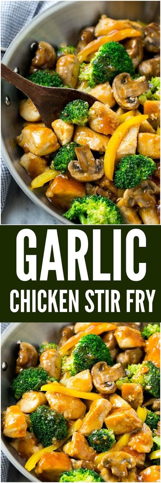Garlic Chicken Stir Fry Recipe - Healthy Recipes