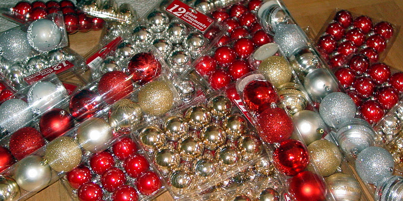 i started out finding oodles of glass ornaments at 90 off after christmas at target each box or package cost me around 50 cents - Christmas Ornaments Target