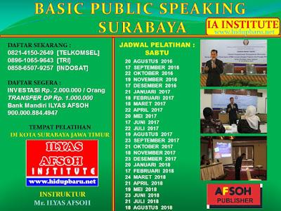 Sekolah Public Speaking Surabaya 2016 2017