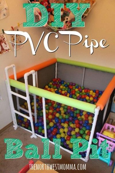 Kolam bola terbuat dari pipa PVC (paralon)