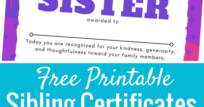 printable sibling award certificates