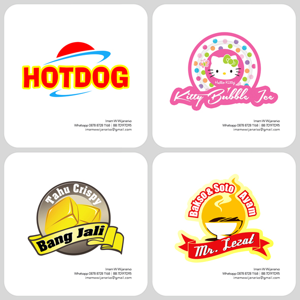 desain logo logo kuliner desain gerobak jasa desain