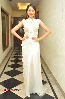 Actress Pragya Jaiswal Stills in Beautiful White Dress at turodu Audio Launch  0033.JPG