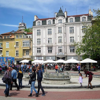 Plaza en Plovdiv, Bulgaria