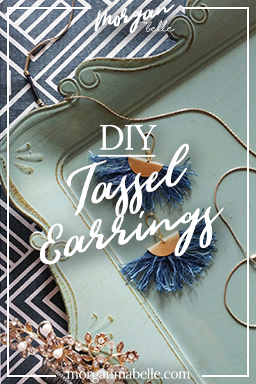 DIY fan fringe tassel earrings
