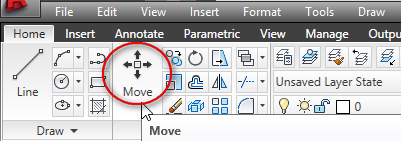 how to use move in autocad