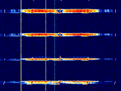 ACARS signals on the waterfall