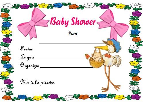 Wikisabios Bonito Diseño Rosado De Invitación Para Baby Shower