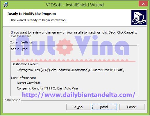 Cài đặt phần mềm biến tần Delta VFD Soft 1.58 trên máy tính sử dụng Win 8.1 64 bit
