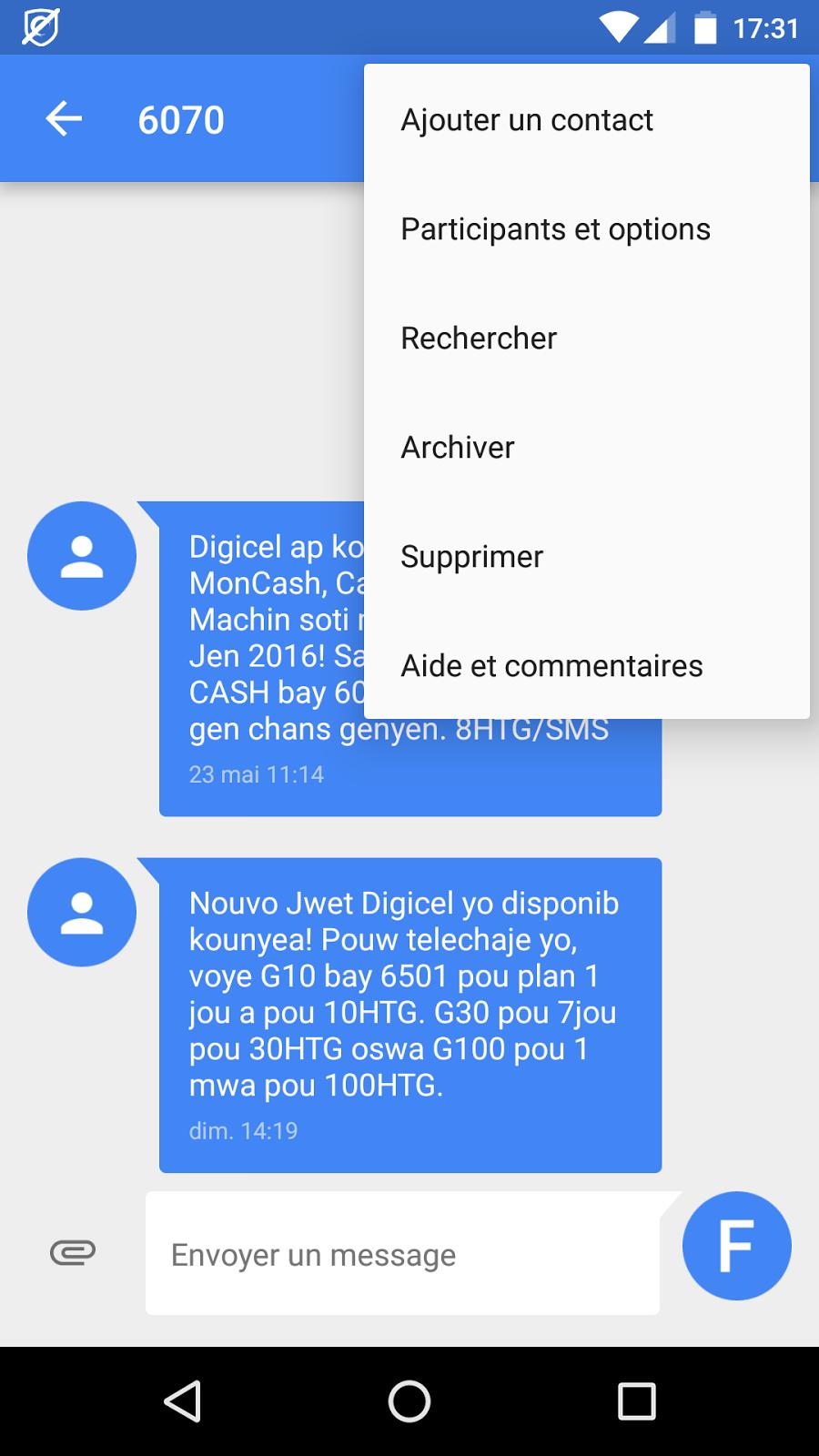 Blog de fabrice comment bloquer les sms avec messenger de - Recevoir les sms d un autre portable ...