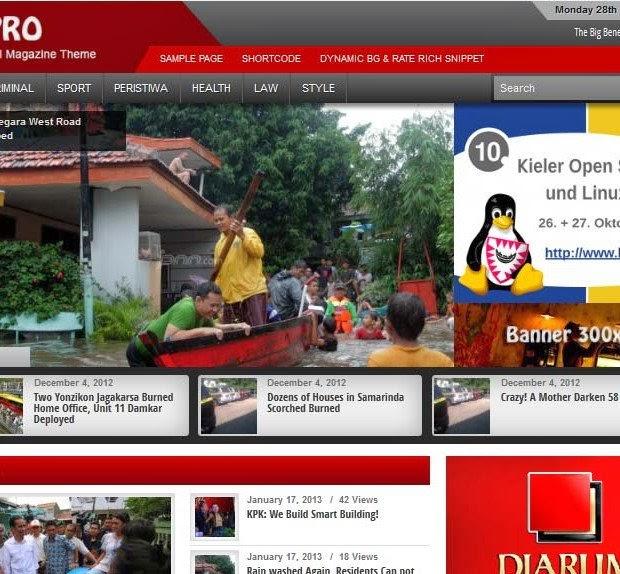 theme bagus untuk portal berita warna merah
