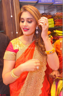 Surabhi looks stunning in Saree at Nakshatra Fashion Store Launch at Suchitra X Road 29.JPG