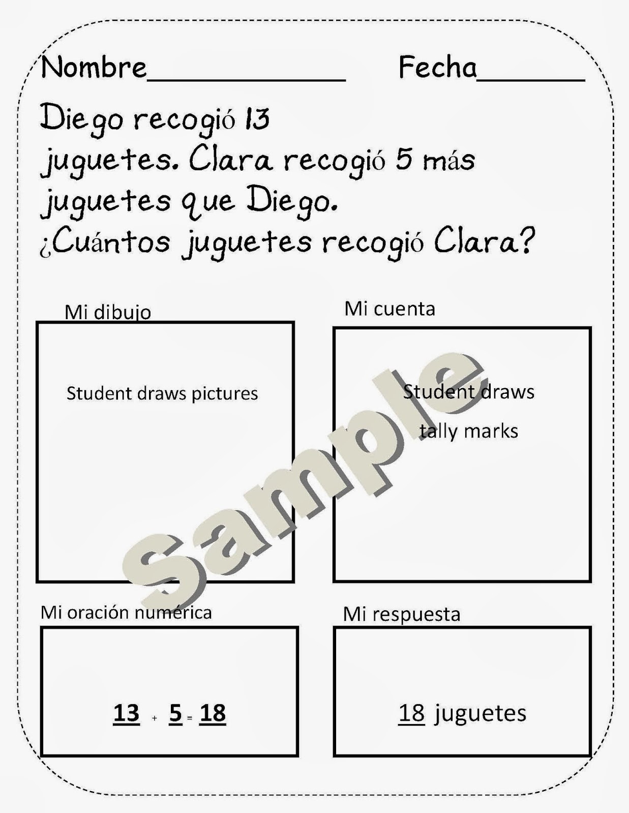 La Maestra Spanish Math Word Problems