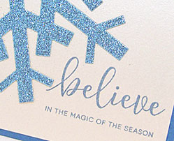 Believe card-designed by Lori Tecler/Inking Aloud-stamps and dies from Clear and Simple Stamps
