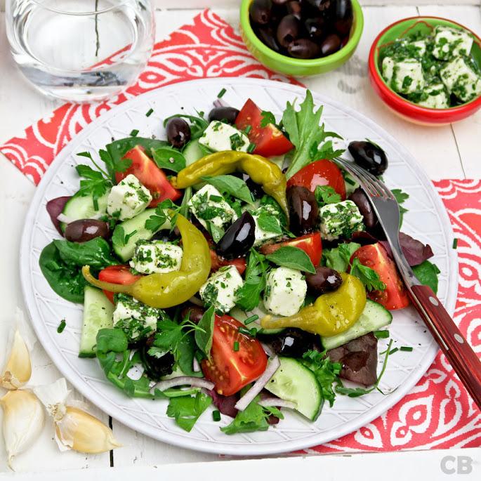 Griekse boerensalade met feta