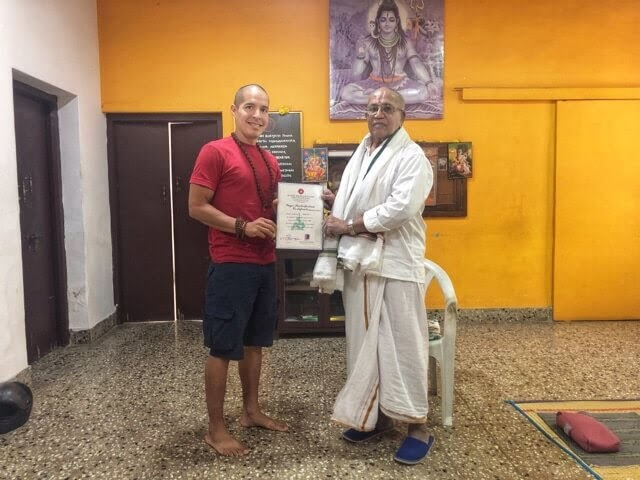 Receiving Pranayama Course Certificate