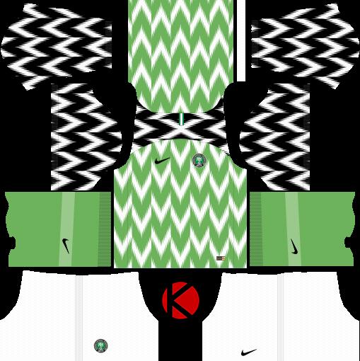 Nigeria 2018 World Cup Kit - Dream League Soccer Kits - Kuchalana