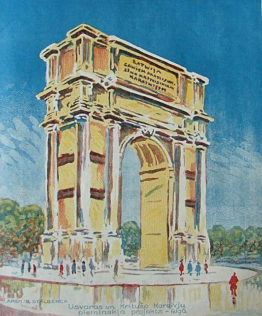 Проект 1925 года. Вместо памятника Свободы могла бы появиться арка Победителей.