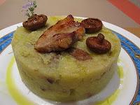 Trinxat (Col y patata) con panceta y Rovellons (Niscalos)
