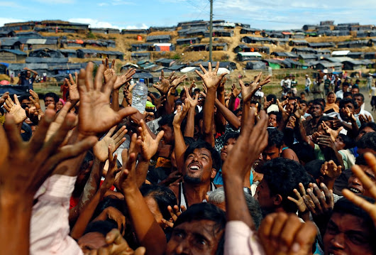 No food and shelter for Rohingya crossing into Bangladesh