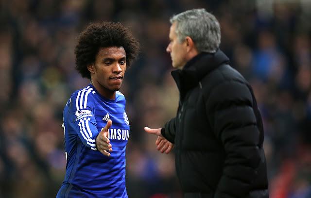 Dibidik Mourinho, Conte Takan Biarkan Willian Pergi