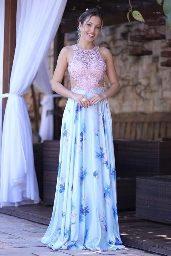 vestido estampado para madrinha e convidada de casamento