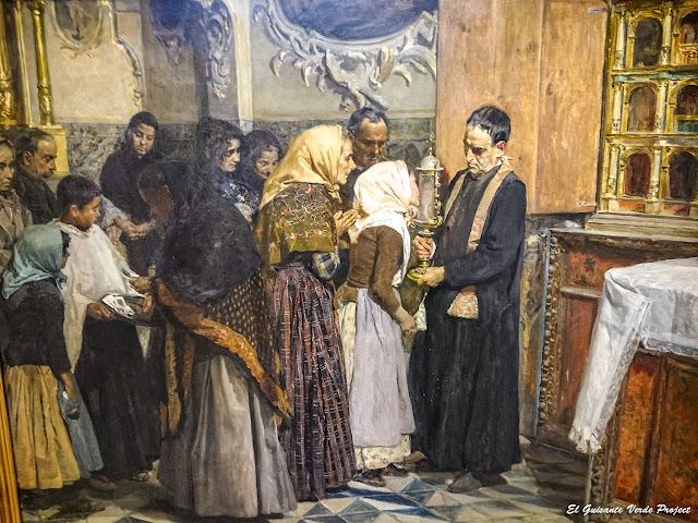 El beso de la reliquia (detalle), Joaquín Sorolla - Museo Bilbao por EGVP