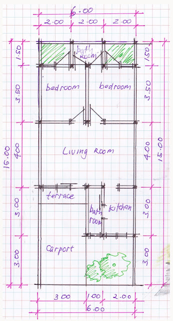 layout of house plan A-04b