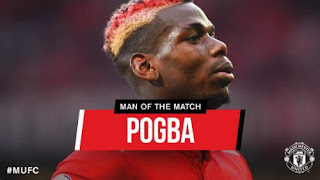 Pogba Man of the Match Manchester United v Leicester City  2-0