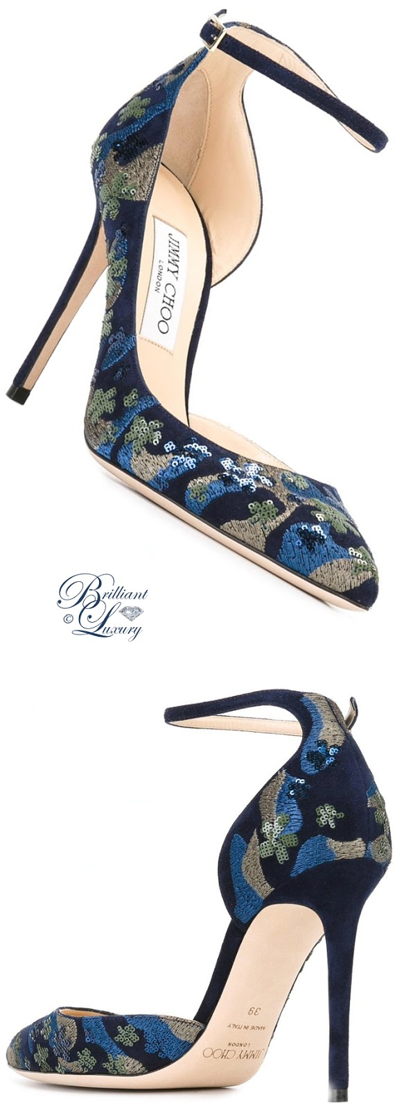 Brilliant Luxury ♦ Jimmy Choo Lucy Embroidered Pumps