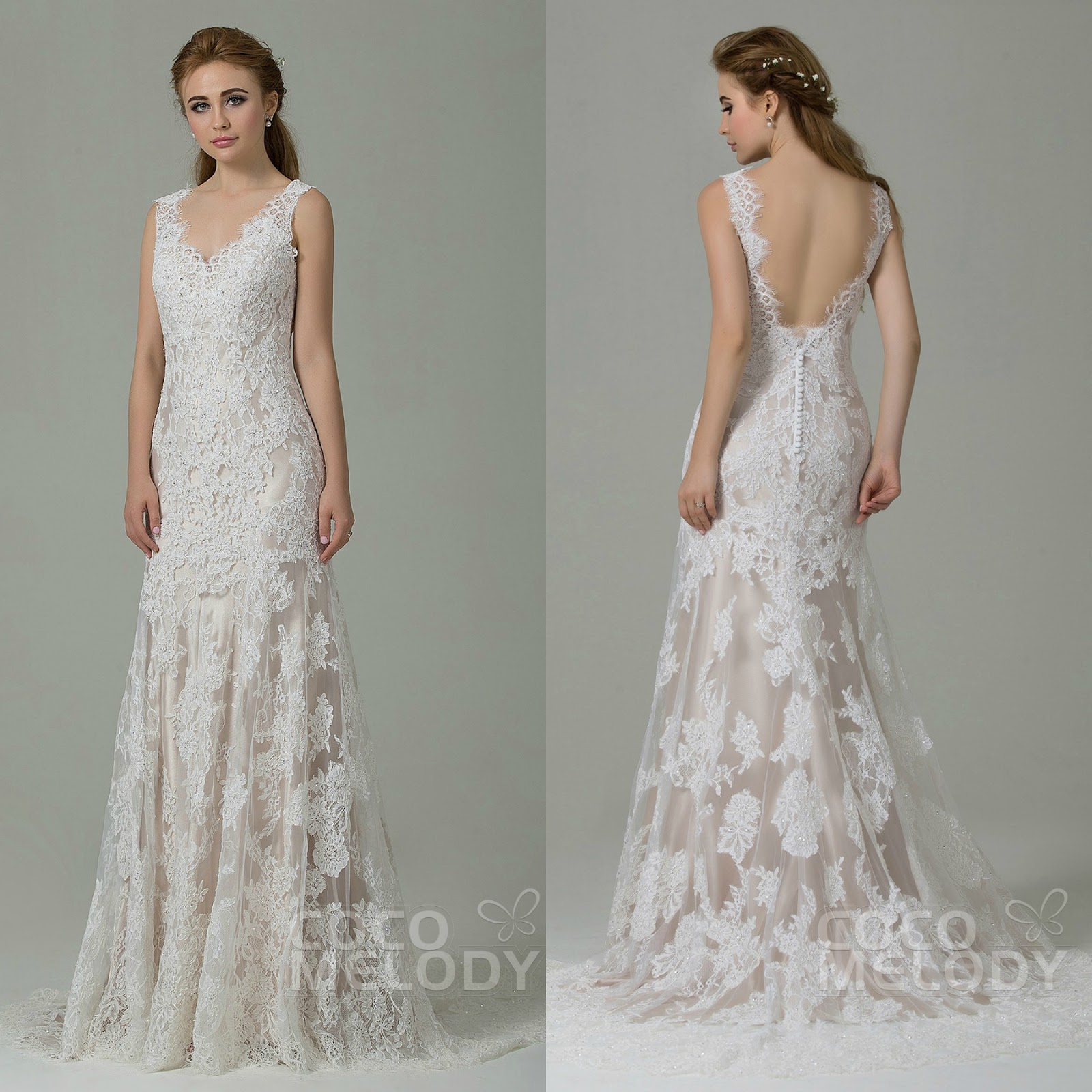Wedding trends: backless wedding dresses from Cocomelody / LA BOHÈME