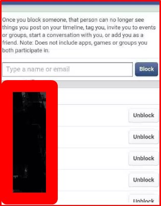 how to unblock someone on facebook on mobile