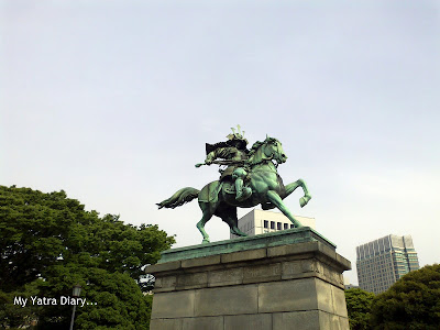 The staue of the samurai warrior, Kusunoki Masashige in the Imperial Palace and Gardens, Tokyo