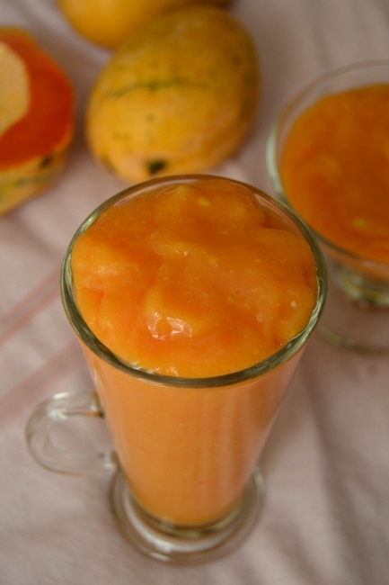 papaya and mango shake