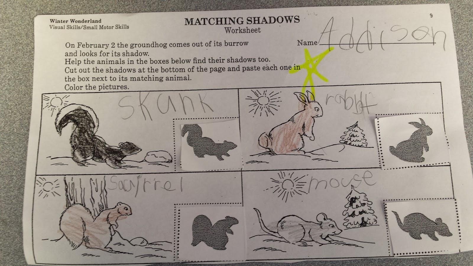 Colors And Kindergarten Groundhog Day
