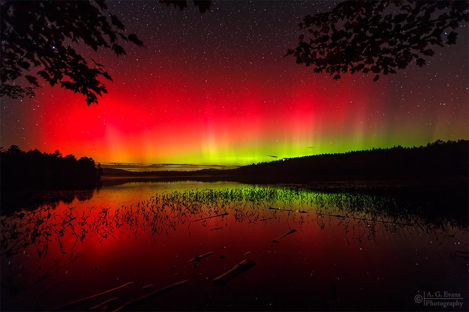 Red spectacle, or aurora borealis.