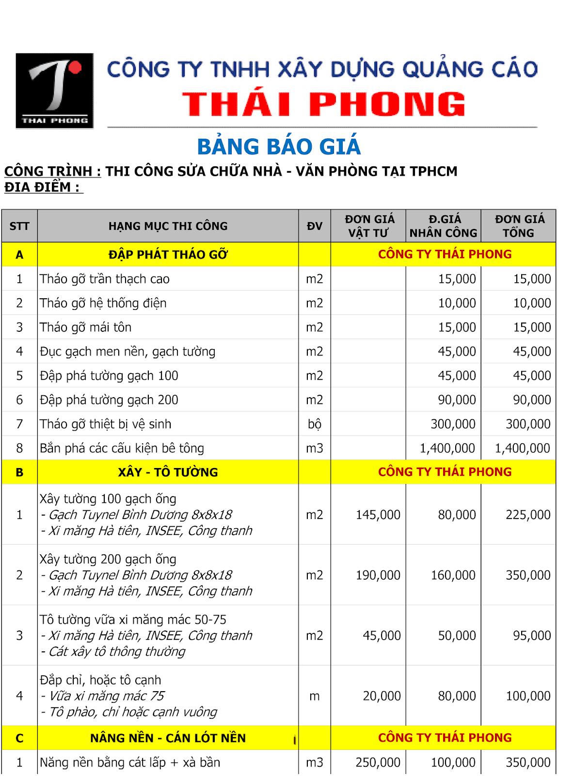 BANG BAO GIA SUA CHUA NHA TPHCM 1