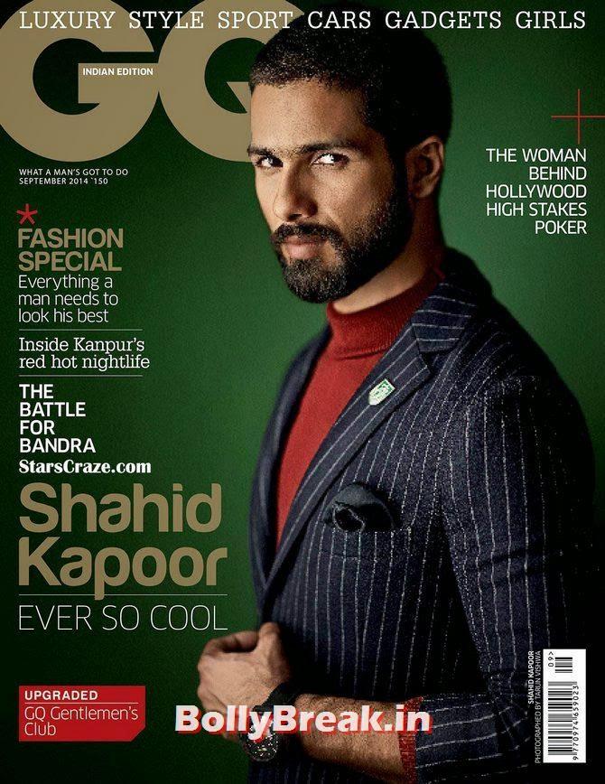 Shahid Kapoor, Bollywood Actors Hot & Sexy Pics on Magazine Covers