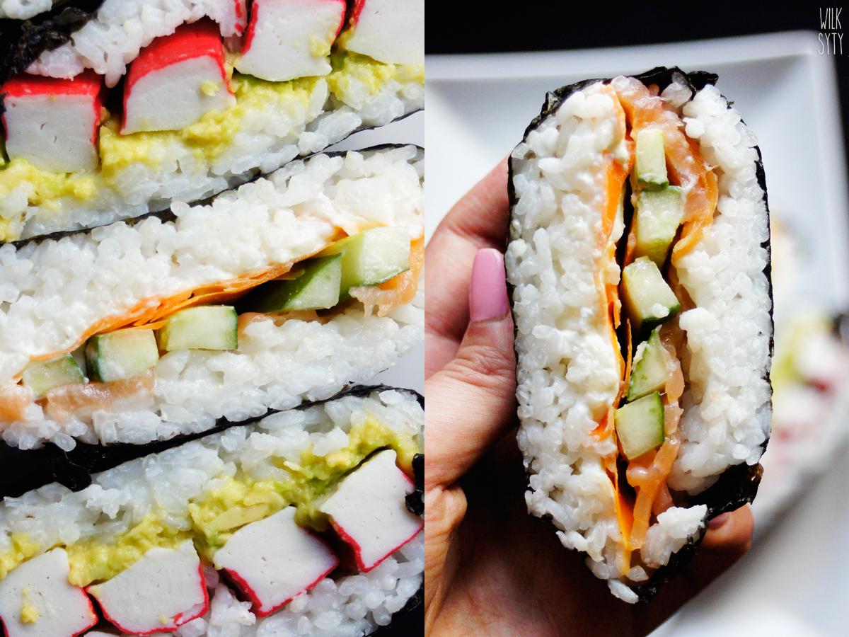 sushi, kanapka, łosoś, pomysł na sushi, lunch do pudełka