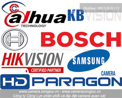 Một số thương hiệu camera uy tín được khách hàng tin dùng.
